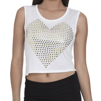 Heart Studded Tank | Shop Tops at Wet Seal