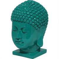 Thai Buddha Head - Emerald