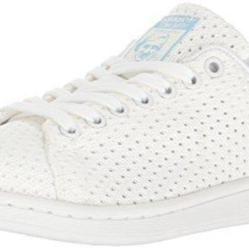 adidas Originals Women's Stan Smith W Fashion Sneaker, White/White/Easy Blue
