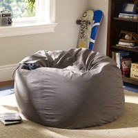 Charcoal Washed Twill Beanbag