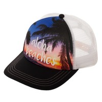 "No Boundaries Women's ""Aloha Beaches"" Snapback Hat with Print Foam Front Panel and Mesh Crown - Walmart.com"