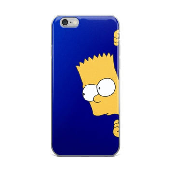 Bart Simpson Blue iPhone 4 4s 5 5s 5C 6 6s 6 Plus 6s Plus 7 & 7 Plus Case