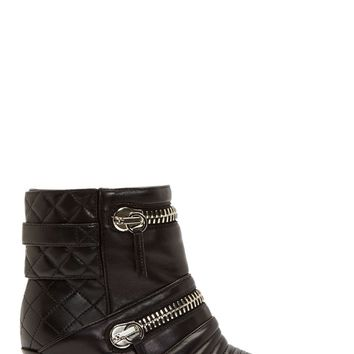 Giuseppe Zanotti Black Leather Quilted And Zipped Biker Boots