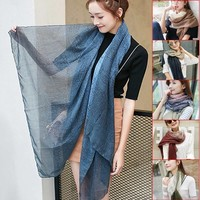 Fashion Winter Autumn Women Vintage Long Cozy Scarf Wrap Shawl Khaki /Navy blue / gray pink /wine red /denim blue / army green-in Scarves from Women's Clothing & Accessories on Aliexpress.com   Alibaba Group