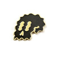 Black Wavy Skull Pin (Limited Edition)