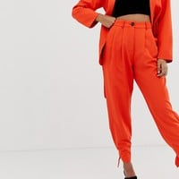 Parallel Lines pants with tie up cuffs two-piece | ASOS