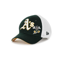 Oakland Athletics Disney MLB Neo 12 9FORTY - http://www.kqzyfj.com/click-7710548-11191294?url=http%3A%2F%2Fshop.neweracap.com%2FMLB%2FOakland-Athletics%2F20383517 / White/Green / 70% Cotton, Woven, 30% Pique, Woven