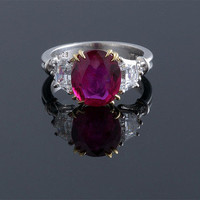 "Burma "" No Heat"" Ruby Ring ~ M.S. Rau Antiques"