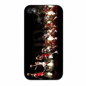 CREYUG7 Michael Jordan NBA Chicago Bulls Dunk iPhone 4 Case