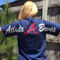 Atlanta Braves Short Sleeve Comfort Colors Monogrammed Tee