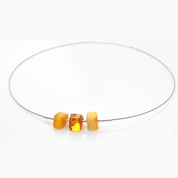 necklace amber necklace amber jewelry choker minimalist necklace sterling silver adult necklace modern silver necklace 925 brown in handmade