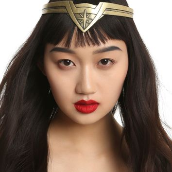 Licensed cool DC  WONDER WOMAN Movie Replica Tiara Crown Headpiece Burnished Gold NEW