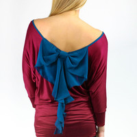 Bows and Curls Top - Burgundy