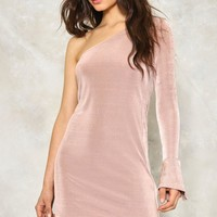 ALL FOR ONE SHOULDER BODYCON DRESS