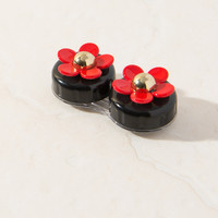 Daisy Black & Red Contact Lens Case