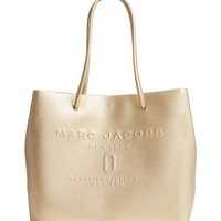 MARC JACOBS Leather Logo Shopper Tote | Nordstrom