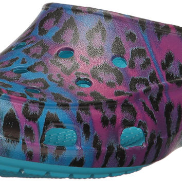 Crocs Women's Freesail Graphic Clog W Mule Multi/Leopard 6 B(M) US '