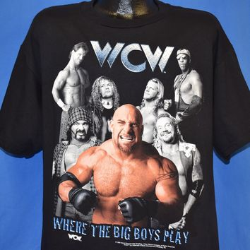 90s WCW Where the Big Boys Play Wrestling t-shirt Large
