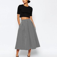 ASOS | ASOS Prom Skirt in Geo Jacquard at ASOS