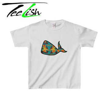Aztec whale - Graphic tee for kids