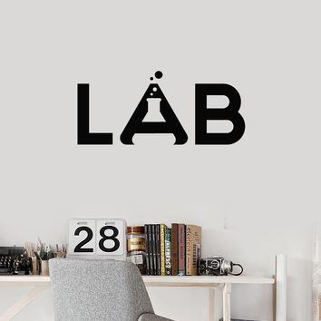Vinyl Wall Decal Lab School Chemistry Laboratory Science Class Decor Art Stickers Mural (ig5679)