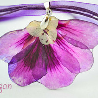 Real Flower Resin Necklace - Real flower in resin, Pressed Flower Jewelry - Resin Necklace - Resin Jewelry, Necklace resin