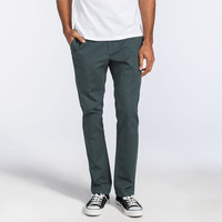 Rvca All Time Mens Chino Pants Slate Blue  In Sizes