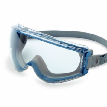 Uvex Stealth Safety Goggles with Uvextreme Anti-Fog Coating & Neoprene Headband, Teal & Gray Body with Clear Lens  (S39610C)