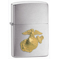 Zippo 280MAR Classic US Marines Emblem Brushed Chrome Windproof Lighter