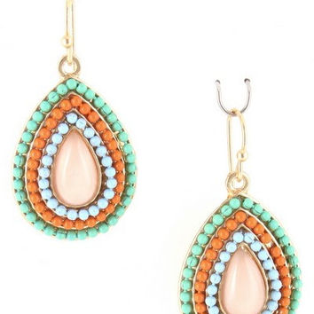 Beaded Earrings ( three color options)