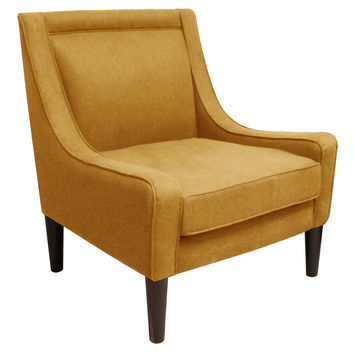 Scarlett Swoop-Arm Chair, French Yellow, Accent & Occasional Chairs