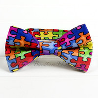 Boy's, Girl's Bow Tie, Newborn, Baby, Child- Autism Awareness, Toma's Tutus and Things
