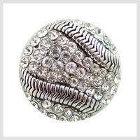 Baseball Rhinestones 20mm 3/4""