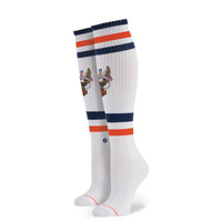 Stance Harley Davidson Historic Blue Step Pipe Bomb Sock White OS Women