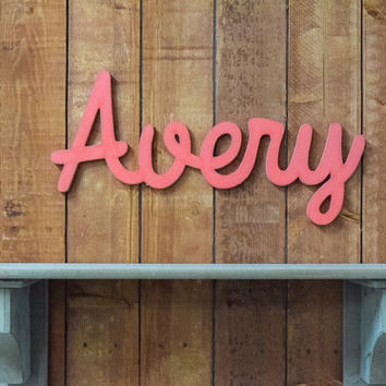 Avery Wooden baby name sign, nursery wall art, rustic nursery, shabby chic nursery decor, wooden letters, personalized baby name sign
