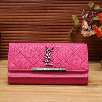 Perfect YSL Yves Saint Laurent Women Fashion Leather Shopping Wallet Purse