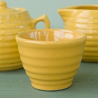 Yellow Bauer Ringware 4 Piece Creamer Set by AtHomeInNapa on Etsy