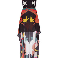 Sleeveless High Low Stars Printed Dress | Moda Operandi
