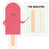 'Anatomy' Sticker by Teo Zirinis