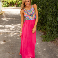 Feather Beauty Maxi Hot Pink