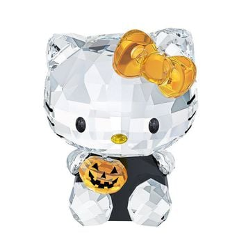 Swarovski Crystal Figurine HELLO KITTY HALLOWEEN #1191918 New