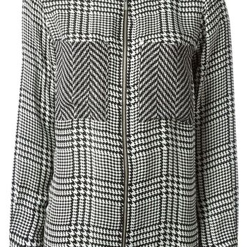 Michael Michael Kors sheer panel houndstooth blouse