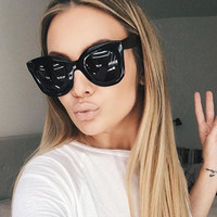 Winla 2017 Fashion Sunglasses Women Luxury Brand Designer Vintage Sun glasses Female Rivet Shades Big Frame Style Eyewear UV400