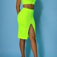 Racer back bodycon two-piece dress