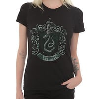 Harry Potter Slytherin Crest Girls T-Shirt