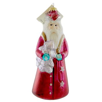 Larry Fraga Mr Fabulous Santa Glass Ornament