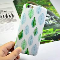 Sweet Fresh Leaves Cute Case for iPhone