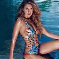 *online exclusive* one piece swimsuit with cutout sides