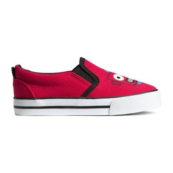 H&M - Shoes with Printed Design - Red - Kids