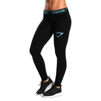GymShark Women's Element Compression Leggings - Cyan All women's wear | GymShark International | Innovation In Fitness Wear
